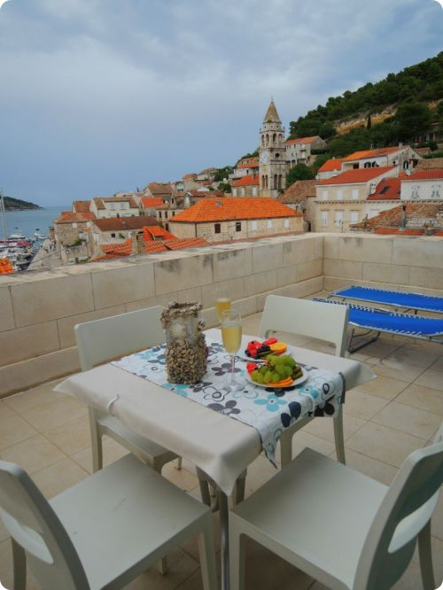 Our view from our room at Hotel San Giorgio (Vis Island, Croatia)
