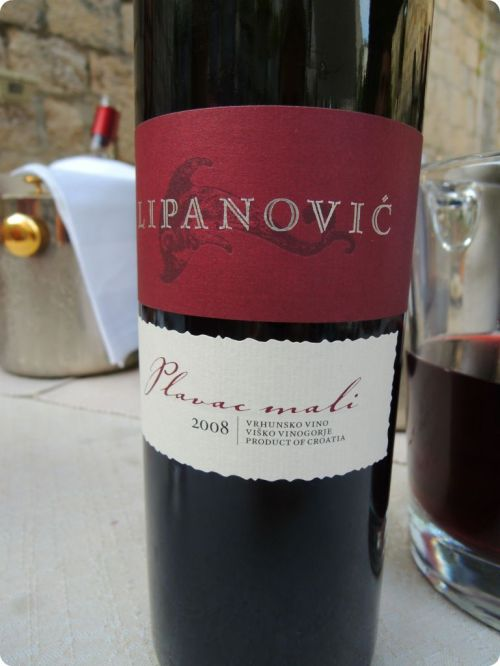 Plavac Mali from LIpanovic Vineyards nearby  - The favorite from our tasting...yes, this went in our suitcase!