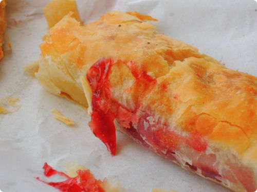 Cherry filled pastry