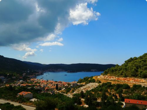 View of the town of Vis. (Vis Island, Croatia)