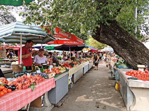 Farmers market in Trogir