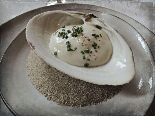 Surf Clam Fava Bean, Meyer Lemon, & Green Garlic