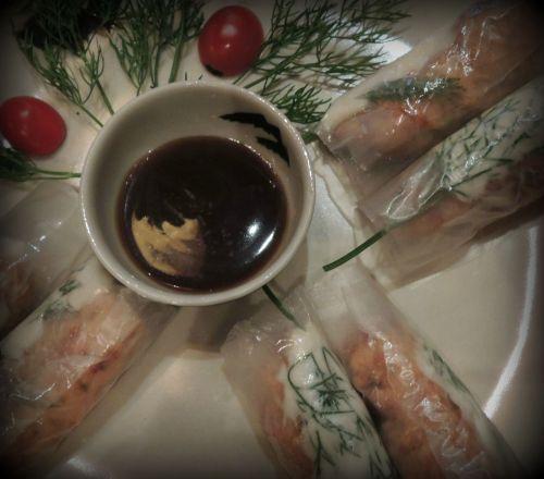 Nem Ca Xa:  Catfish spring rolls