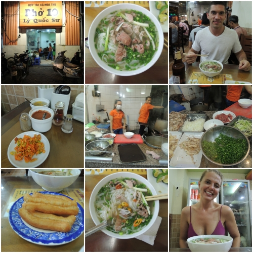 A must try in Hanoi!  Delicious, inexpensive, packed with locals, and great service.  Don't expect to hang out...this is an in and out stop.  The servers are quick so that everyone can eat without a long wait.