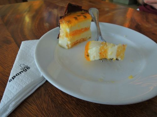 Passion fruit and yogurt cake at Sponge