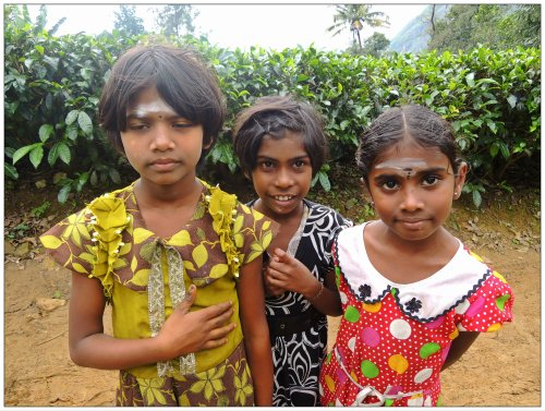 Village girls exchanging smiles for rupees
