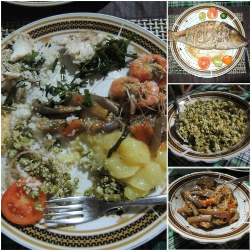 Whole fish, shrimp, rice and curry made straight from the hearts of our host and hostess
